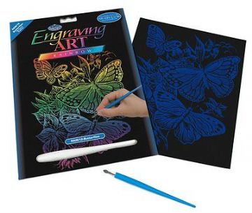 ENGRAVING ART SET - BUTTERFLIES (RAINBOW FOIL) by ROYAL & LANGNICKEL